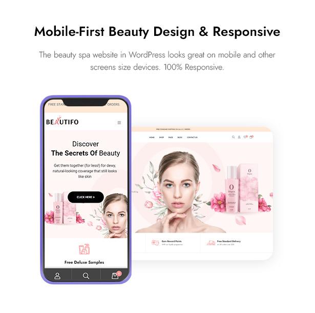 Beautifo Beauty WooCommerce WordPress Theme - Fully Responsive & Mobile Beauty Website