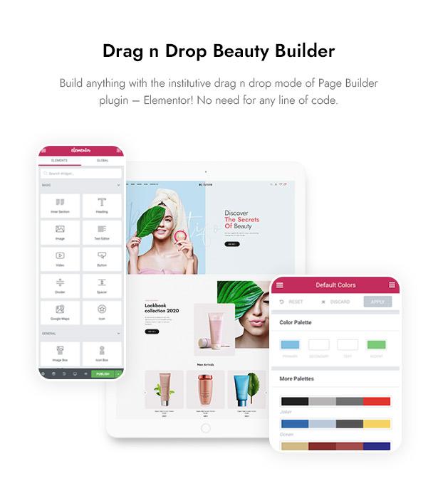 Beautifo Beauty WooCommerce WordPress Theme - Build Beauty Website with Elementor
