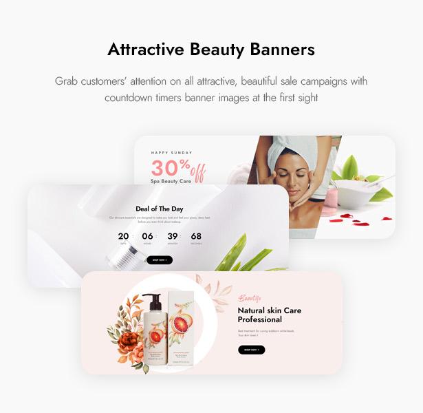 Beautifo Beauty WooCommerce WordPress Theme - Attractive Beauty Banners
