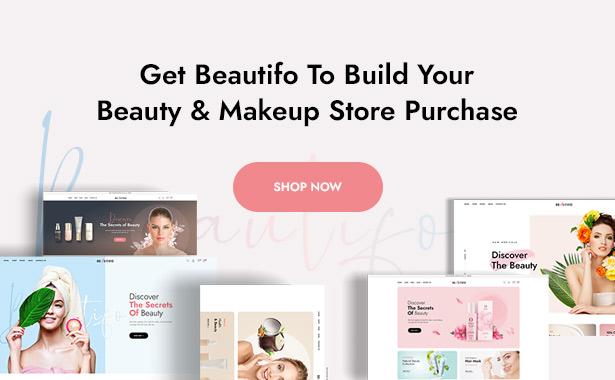 Beautifo Beauty WooCommerce WordPress Theme - Purchase Beautifo Beauty WordPress theme