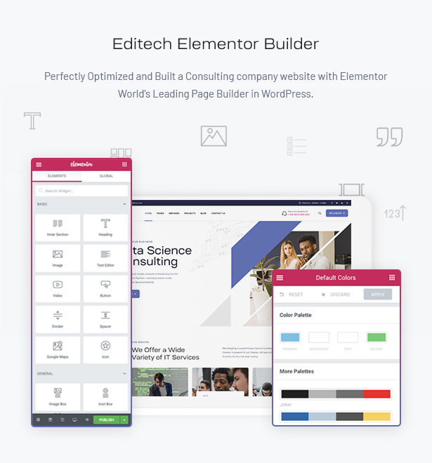 Editech Corporate Business WordPress Theme - Business Website Elementor Builder