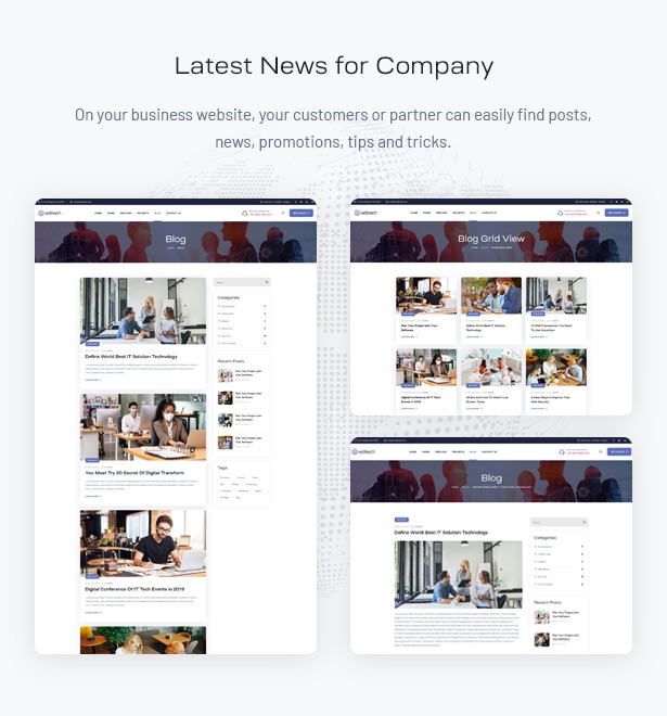 Editech Corporate Business WordPress Theme - Latest News for Business