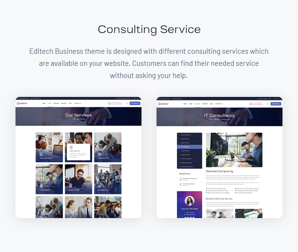 Editech Corporate Business WordPress Theme - IT Business Services