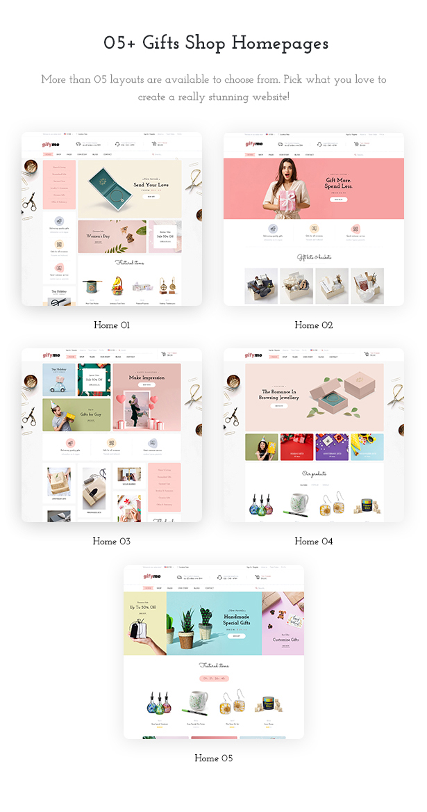 05+ Giftshop Demos WooCommerce Theme