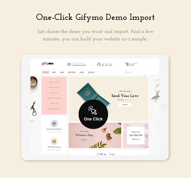 1 Click Installation Giftshop WooCommerce Theme