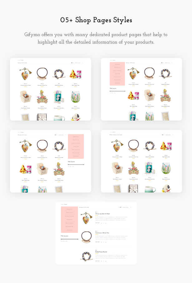 Shop Pages - Giftshop WooCommerce Theme