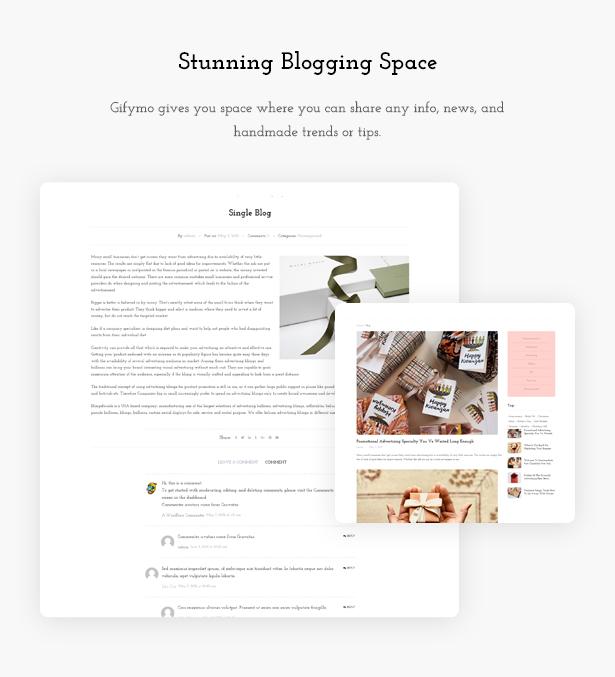 Blog page - Giftshop WooCommerce Theme