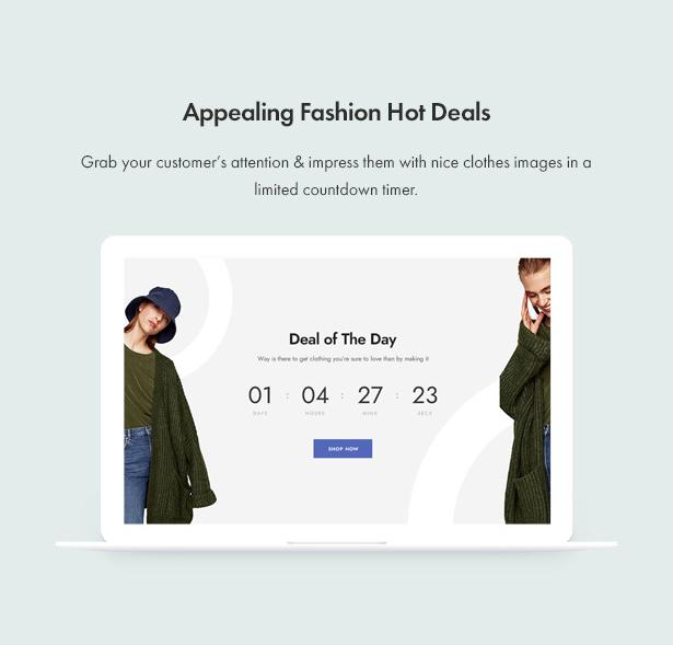Jenik Gutenberg Fashion WooCommerce Theme - Hot Deals
