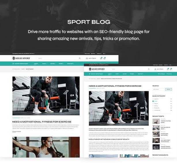 Blog Page - Sport shop Woocommerce Wordpress Theme