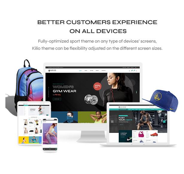 Mobile optimization - Sport shop Woocommerce Wordpress Theme