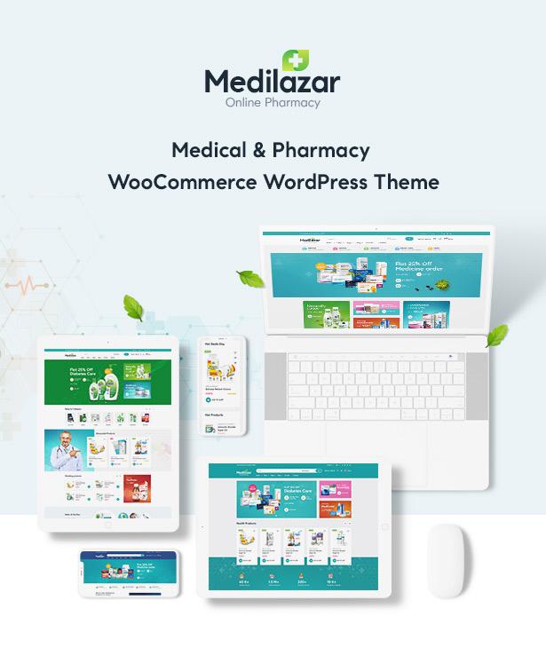 Medilazar Pharmacy WooCommerce WordPress Theme