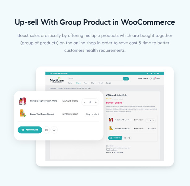 Medilazar Pharmacy WooCommerce WordPress Theme - Boost Sales with Grouped Products WooCommerce