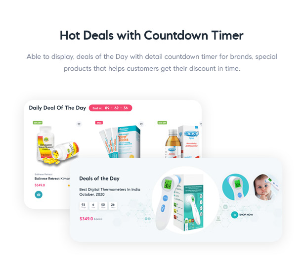 Medilazar Pharmacy WooCommerce WordPress Theme - Hot deals for pharmacy products