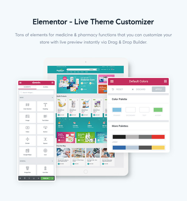 Medilazar Pharmacy WooCommerce WordPress Theme - Elementor Builder